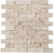 2.5x5 Light Traverten Brick Patlatma Mozaik