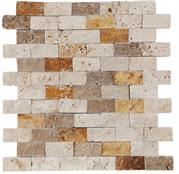 2.5x5 Mix Lny Traverten Brick Patlatma Mozaik