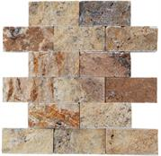 5x10 Scabos Traverten Grand Brick Patlatma Mozaik